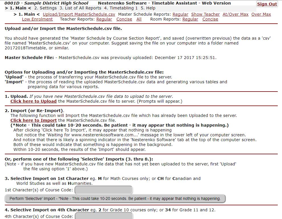 Nesterenko Software - Timetable Assistant